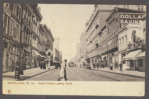 Market Street looking North to 12th St., - - c1900