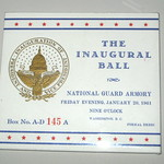 Washington DC - National Museum of American History: 1961 Inaugural Ball ticket