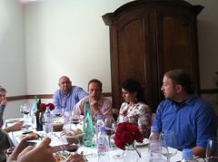 Bernard Lartigue during lunch