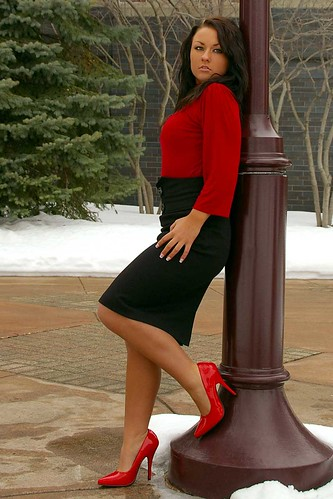 red minnesota fashion model highheels photoshoot skirt heels redheels modelmayhem mm1047422