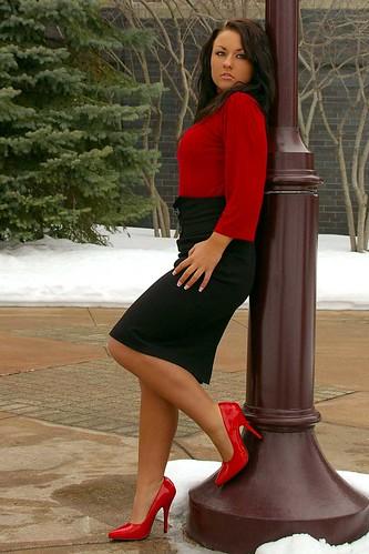 red minnesota fashion model highheels photoshoot skirt heels redheels modelmayhem mm1047422