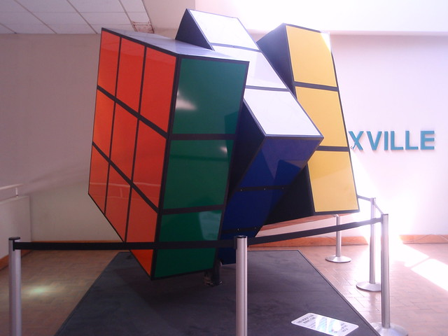 Largest Rubik's Cube on display in the Holiday Inn Knoxville