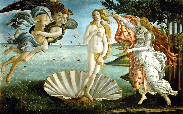 Boticelli, Sandro (1444-1510) - 1485c.Birth of Venus (Uffizi)