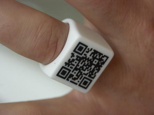 QR Code Ring detail