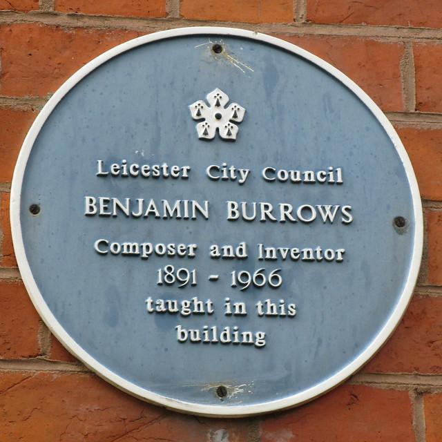 Photo of Benjamin Burrows blue plaque