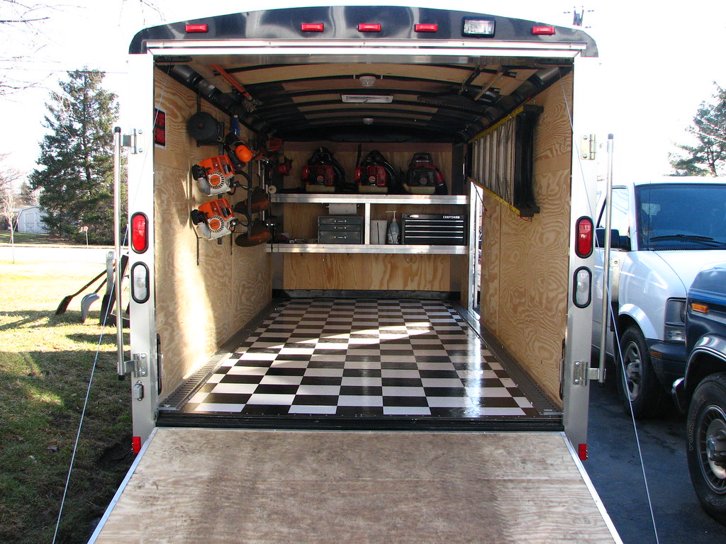 pictures of the new enclosed trailer interior