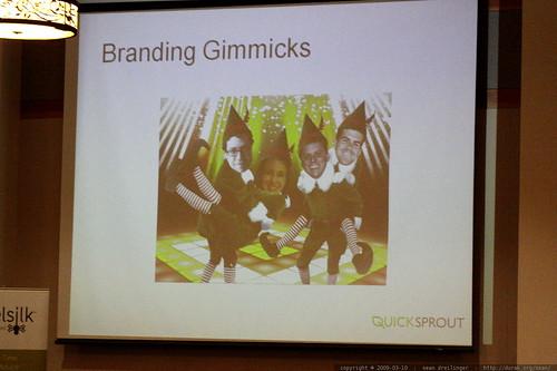 slide   branding gimmicks   sleazy linkbait panel   sempdx searchfest 2009    MG 9637