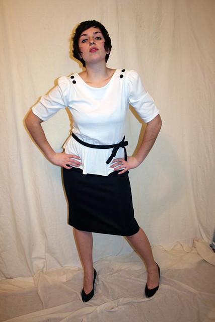 black and white secretary dress flickr photo sharing