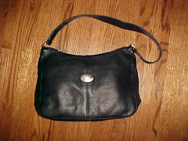 American Angel Black Leather Bag