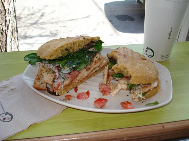Urban Herbivore: BBQ tofu sandwich   Delicious slices of tof ...