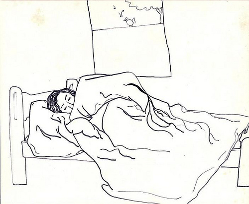 the girl sleeps - a menina dorme
