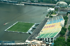 Floating football stadium - funky!