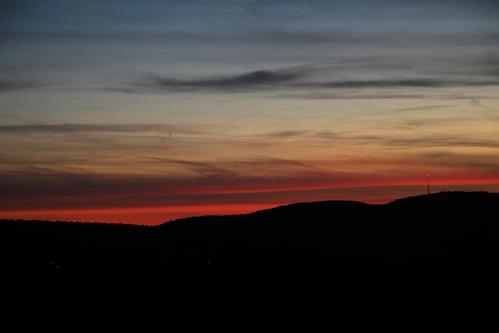 sunset bluehills