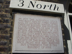 Photo of Robert Dudley and Alienation Office stone plaque