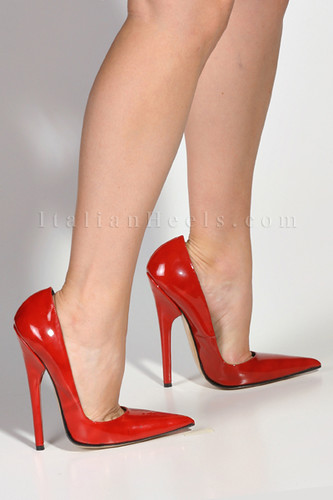 3100 ItalianHeels.com High Heels 6 inch Stiletto Red Patent Mules ...