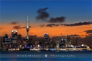 Auckland at Dusk - New Zealand