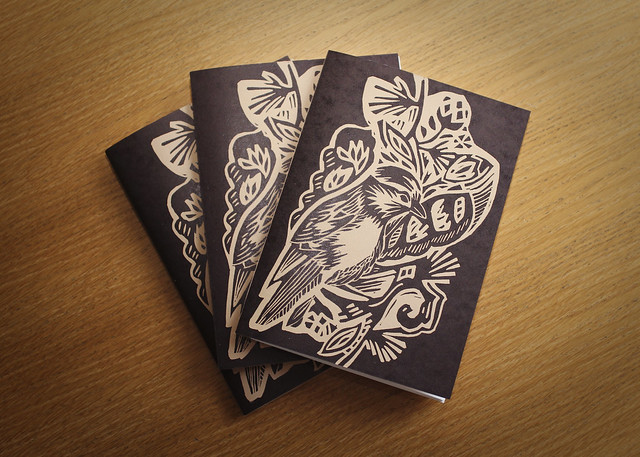Bird sketchbooks - Linocut