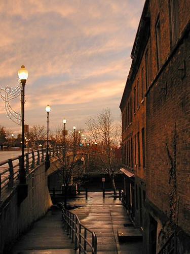 2001 sunset red usa ny newyork color colour building america evening upstatenewyork 2000s senecafalls canadagood