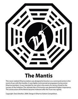 The Mantis Dharma Station Logo