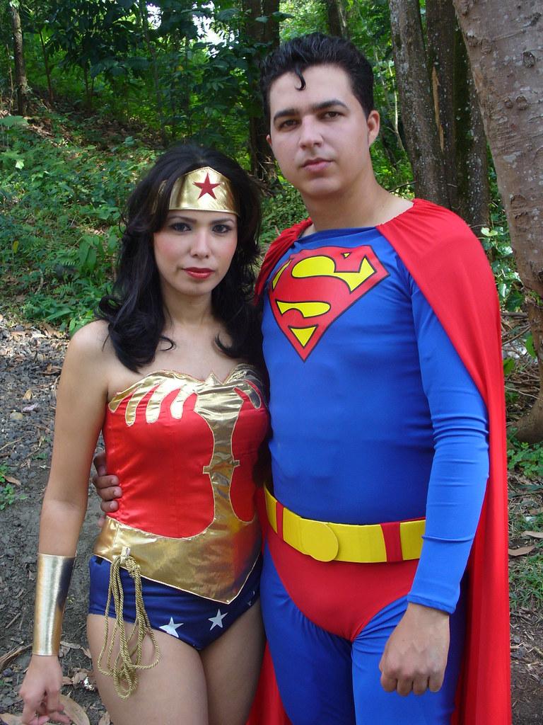 Disfraz Superman Mujer Superman y la Mujer Maravilla