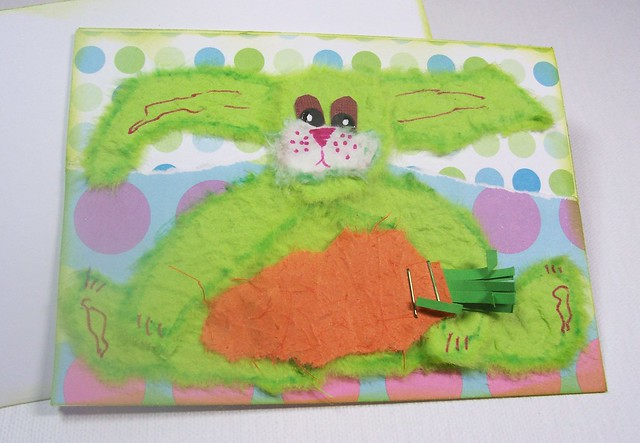 Shocking lime green bunny!