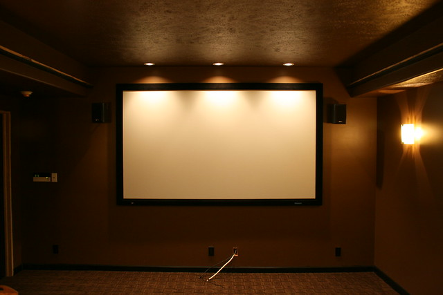 Home Theater Screen Wall Flickr Photo Sharing