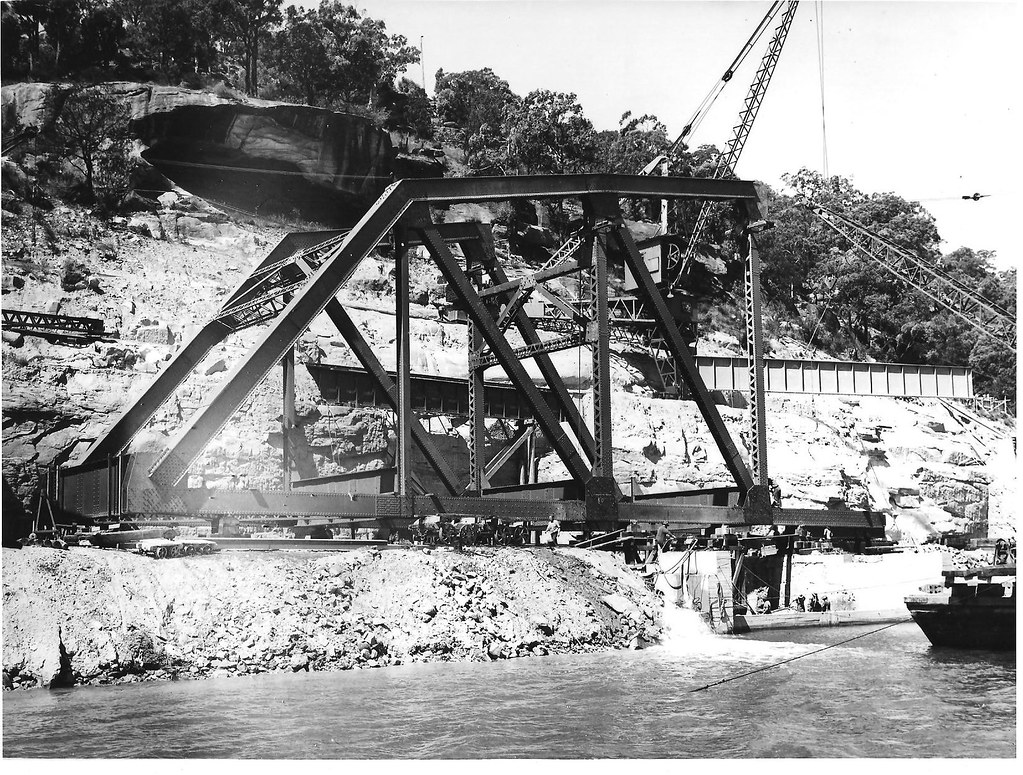 Building replacement Hawkesbury River Rail Bridge, NSW by dunedoo