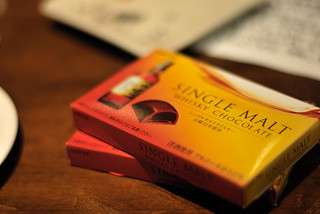 Single malt whisky chocolate