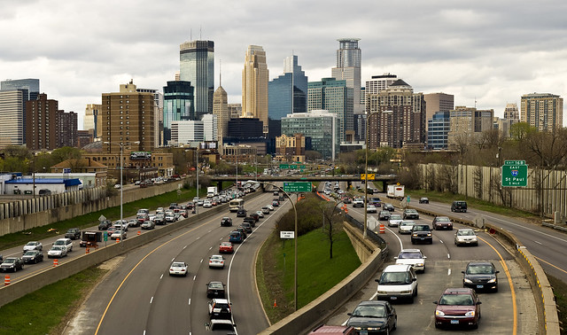 Minneapolis skyline from 24th St.