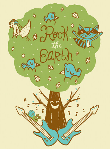 Rock the earth tee illustration 2