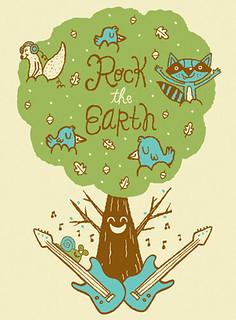 Rock the earth tee illustration 2