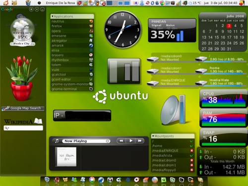 Screenlets en escritorio linux