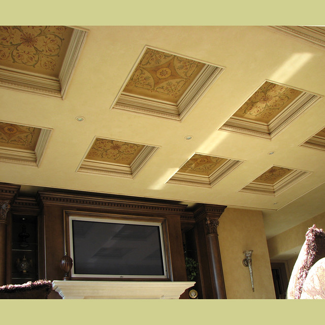 Photo - ceiling stencils for walls designs