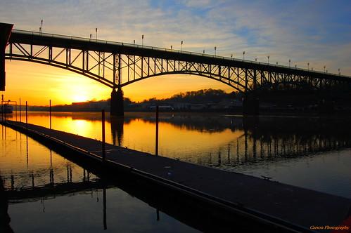 street bridge gay reflection sunrise carson photography nikon tn knoxville tennessee east d40 easttn