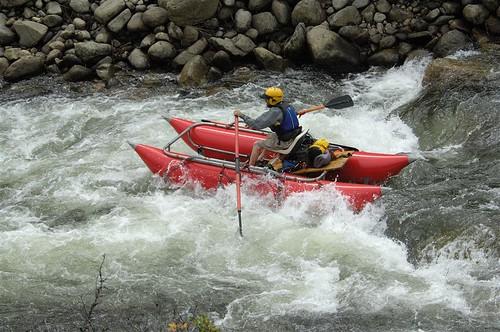 Catamaraft riding the rapids