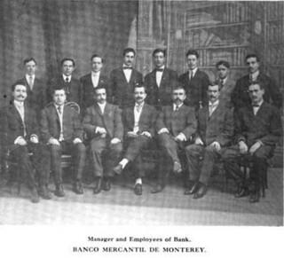 Gerente y empleados del Banco Mercantil de Monterrey 1909
