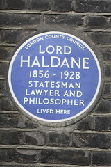 Photo of Richard Haldane blue plaque