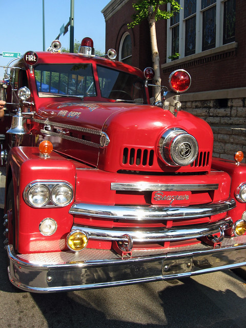 Chattanooga >> Vintage Seagrave Fire Truck at Bessie Smith Strut 02   Flickr - Photo Sharing!