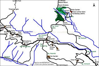 Kundasang Map - Location map - Peta Kundasang