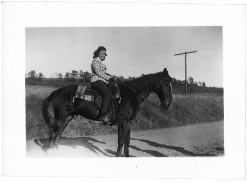 Holli on horse 035