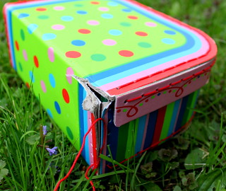 well-loved suitcase