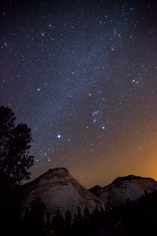 Orion over Zion