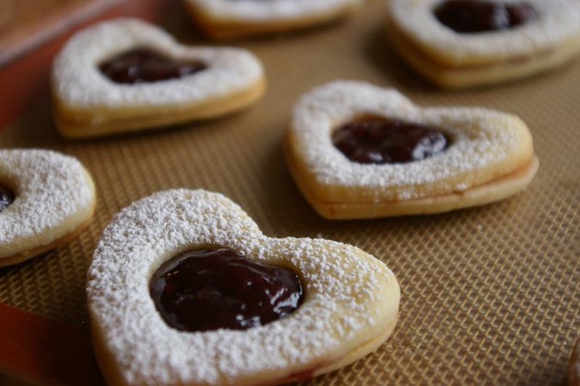 Valentine Rosewater Shortbread Heart Cookies | I made this r ...
