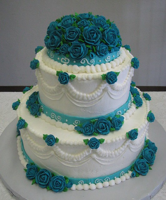 turquoise wedding cake flickr photo sharing. Black Bedroom Furniture Sets. Home Design Ideas