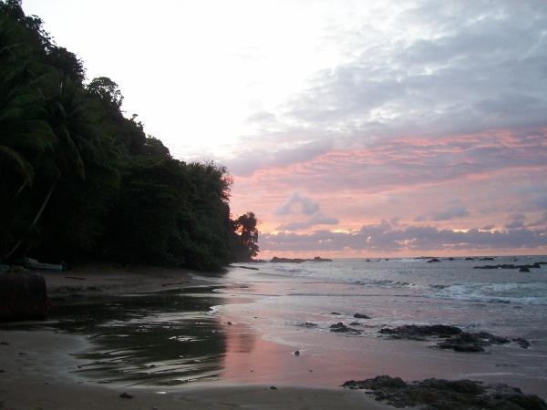 sunset on cano island