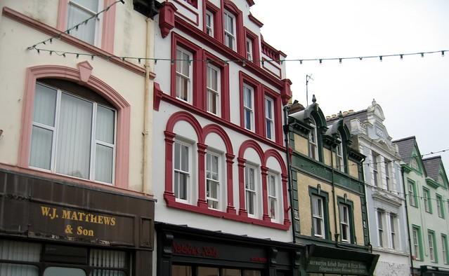 Facades of Caernarfon, North Wales