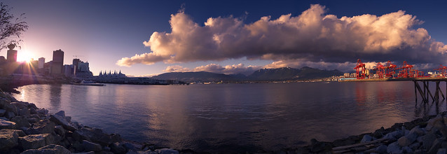 Vancouver Sunset Panorama 1