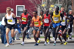 Boston Marathon Men's Leaders 2009