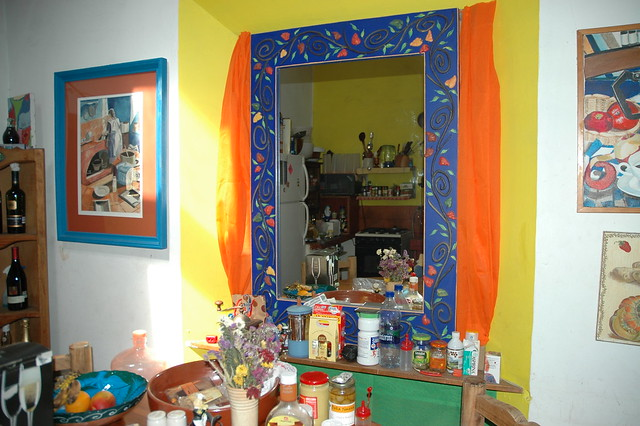 Mexican Color Scheme Fine Art Mirror Kitchen Reflection