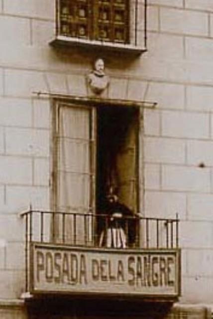 Busto de Cervantes en la Posada de la Sangre